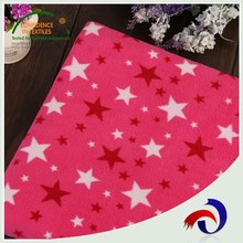 China high quality cheap wholesale printed polar brushed fleece fabric for blanket