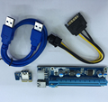 VER006C/007 60cm USB 3.0 Data Cable 1x to 16x PCi-E USB Riser With Sata To 6pin power cable for bitcoin mining