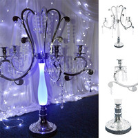 glass candle holders/stands crystal wedding centerpieces/crystal wall mounted candle holder