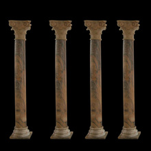 Outdoor mixed color marble roman pillars column molds for sale