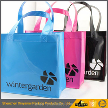 pvc handle bag for shopping recycled clear beauty case pvc plastic cosmetic shopping bag with zipper