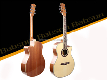 40 inch A Spruce body Fingerboard Carvings High-glossy Acoustic Guitar
