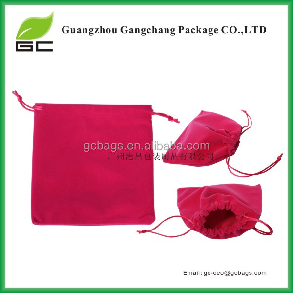 Cheap Cute With Drawstring Velveteen Velvet Pouch Jewelry/Gift Bags