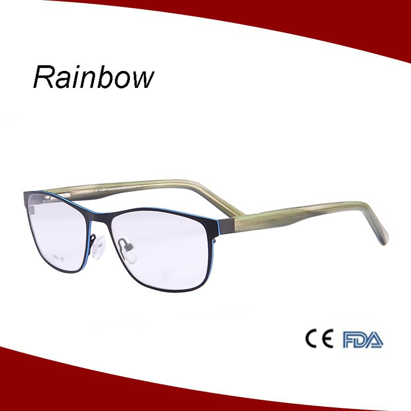 2014 designer glasses frames for men wenzhou optical eyewear stainless steel frame MM14028