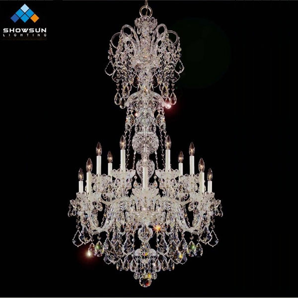 Silver room 14 lights crystal chandelier light