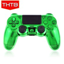 Chrome plating green controller shell for ps4 gamepad housing case