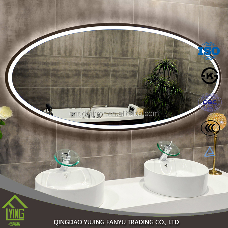Modern illuminated led light bathroom mirror with low price at USA market