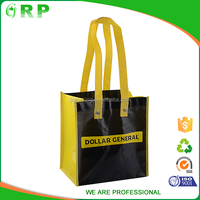 Fashion shopping yellow non woven reusable tote bag