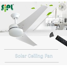 solar ceiling fan solar cooling fan smart home appliance with remote controller, commercial use new fan for cool
