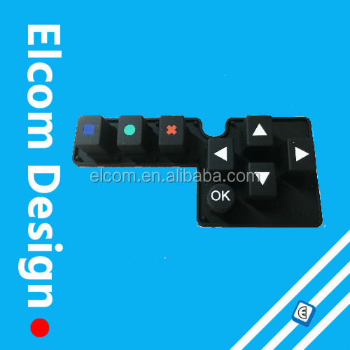 Conductive Waterproof Rubber Silicone keypad with FPC Tail