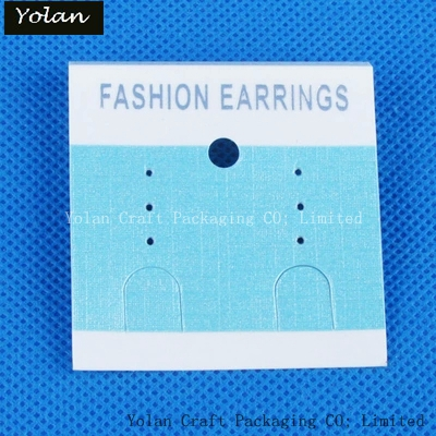 EARRING CARD ,PVC WITH BLUE PAPER