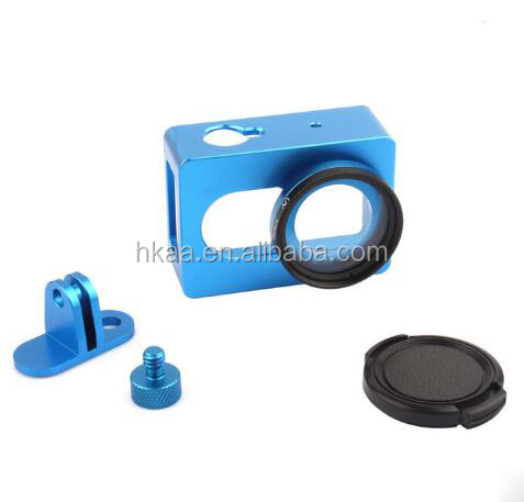 High quality aluminum portable blue anodized fixed mount camera case