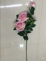 wholesale Silk Flower Artificial Flower/ Single stem rose flower