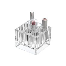 Hot Sale Crystal Clear Lipstick Pencil Cube Acrylic Cosmetic Storage and Organizer Makeup Holder