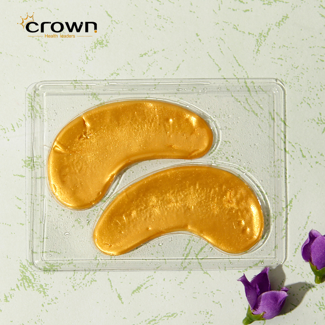 OEM Cosmetic 24k Gold Collagen Crystal Eye Patch Pad Eye Mask for Anti Aging, Anti Wrinkle