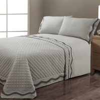 cotton embroidery quilt bedspread set