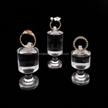 Jewelry holder display wedding ring stand sets china acrylic ring holder display set