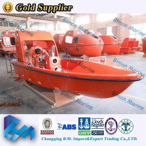 Marine Supplies Boat RINA 9 Person Aluminum Rescue Boats On Market