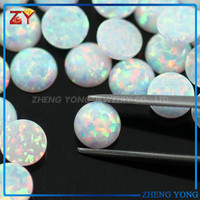 Round OP17 Opal Cabochon Price Of White Opal Stone
