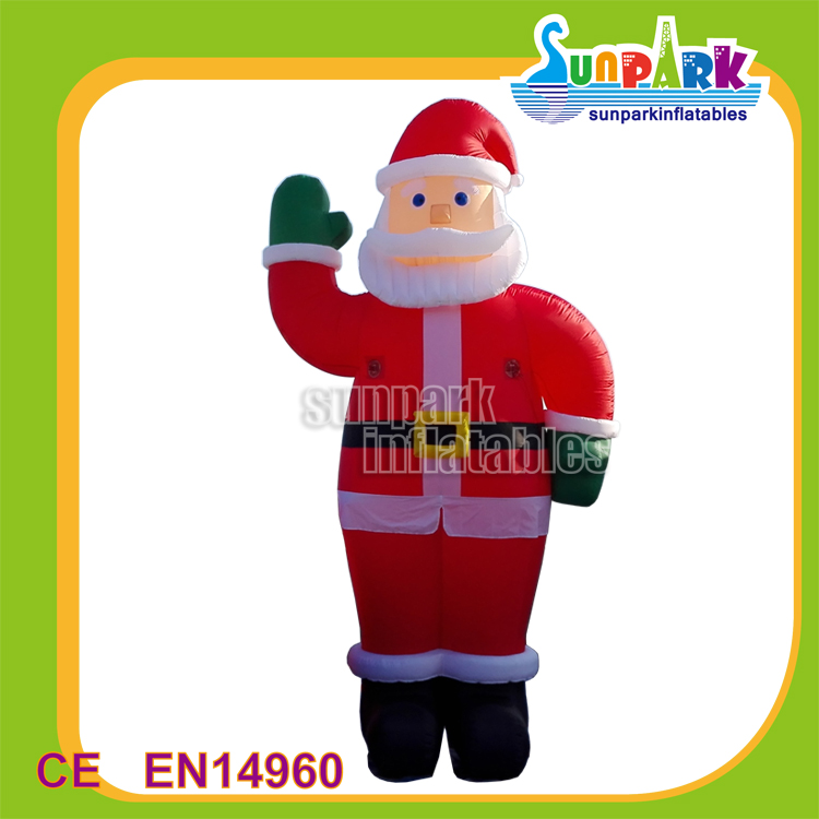 Nice Inflatables Christmas Father Raising Hands, Giant Inflatable Santa Claus Decorations for Holidays