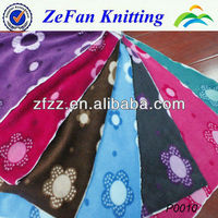 100% polyester printed anti-pilling polar fleece/one design 7colors