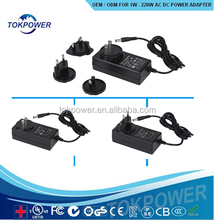 CE UL CB 5W 12W Interchangeable Switching power supply 9V 1.5A dc Eu Switching Power Adapter