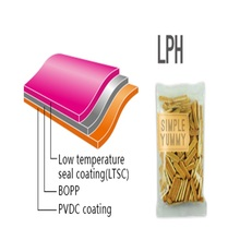 BOPP film,coated with one side low temperature seal coating(LTSC),one side PVDC(high barrier)