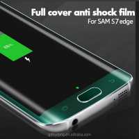 New Coming! Mobile Phone 3D Transparent S7 Edge Tempered Glass Screen Protectors For Samsung S7/ S7 edge Screen