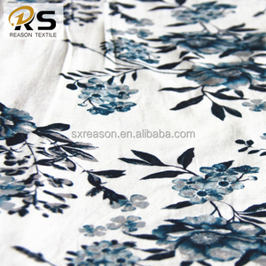 Shaoxing factory new design viscose rayon knitted jersey fabric printing fabric