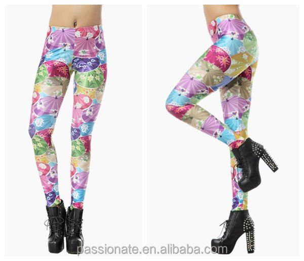 2015 Wholesale Umbrella Printed Womens Sexy Leggings