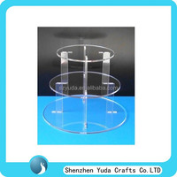 high quality 3 tiers clear acrylic cupcake stand detachable acrylic plexiglass cupcake wedding cake tower stand MOQ