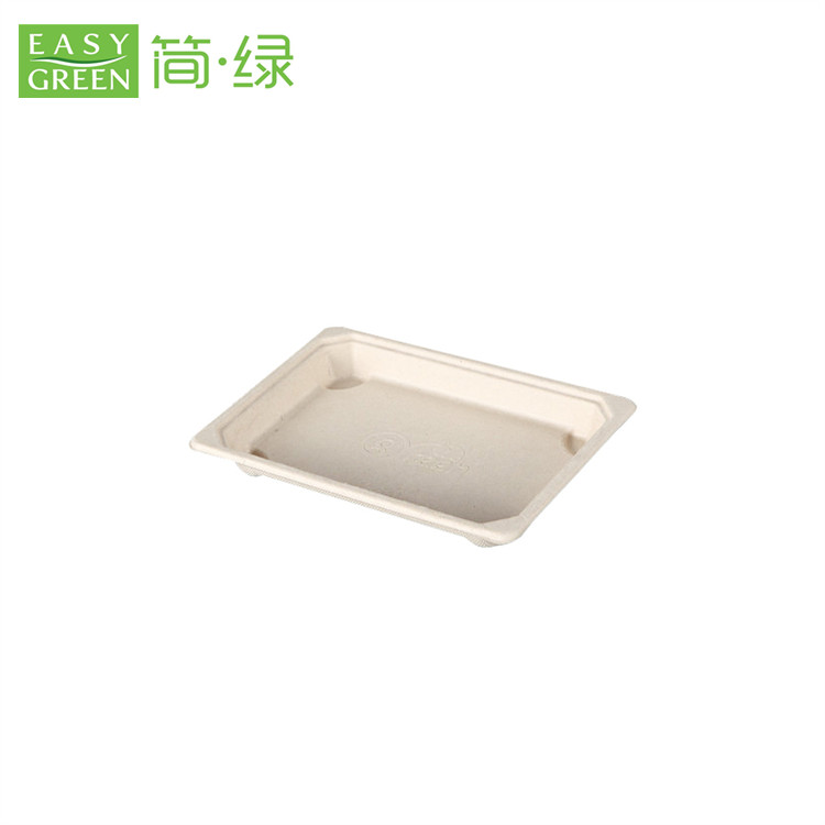 Eco Green Disposable Sushi Paper Tray with Lid