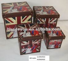 Union Jack Wooden Storage Box