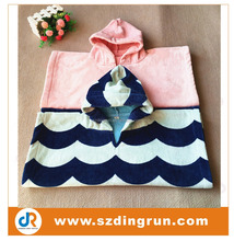 poncho towel/ Alibaba China 100% cotton kid's hooded towel