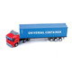 1:65 free wheel alloy toy diecast container model truck