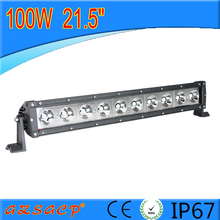 China supplier 100w led light bar 21.5inch single row led light bars for trucks