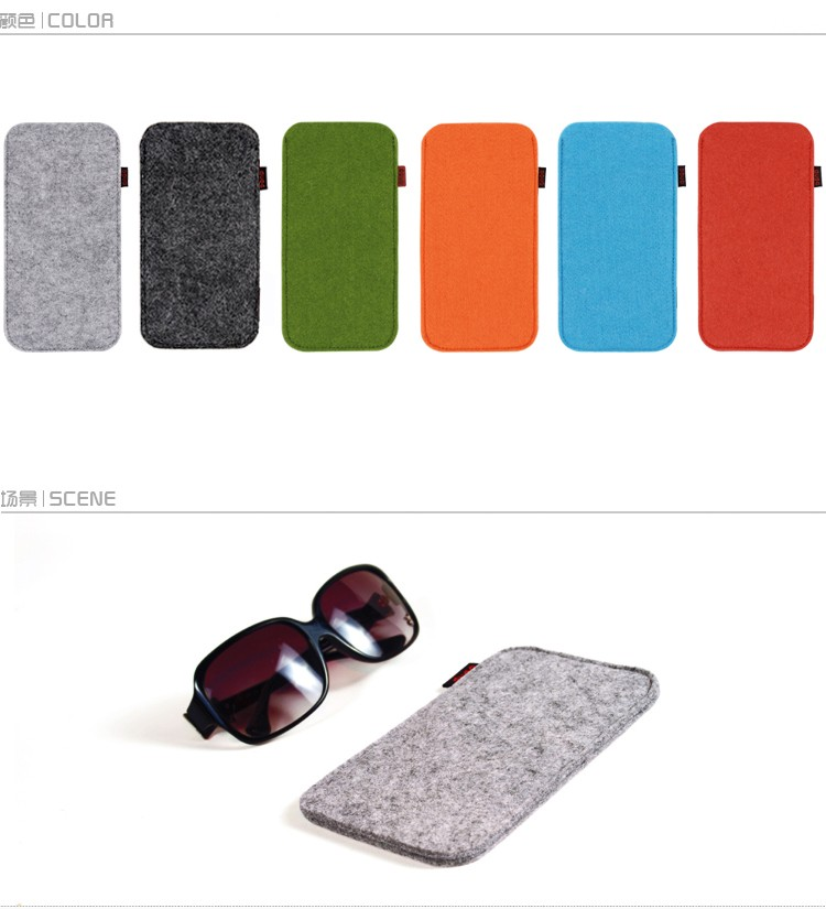new China manufacturer custom red felt eyeglass case