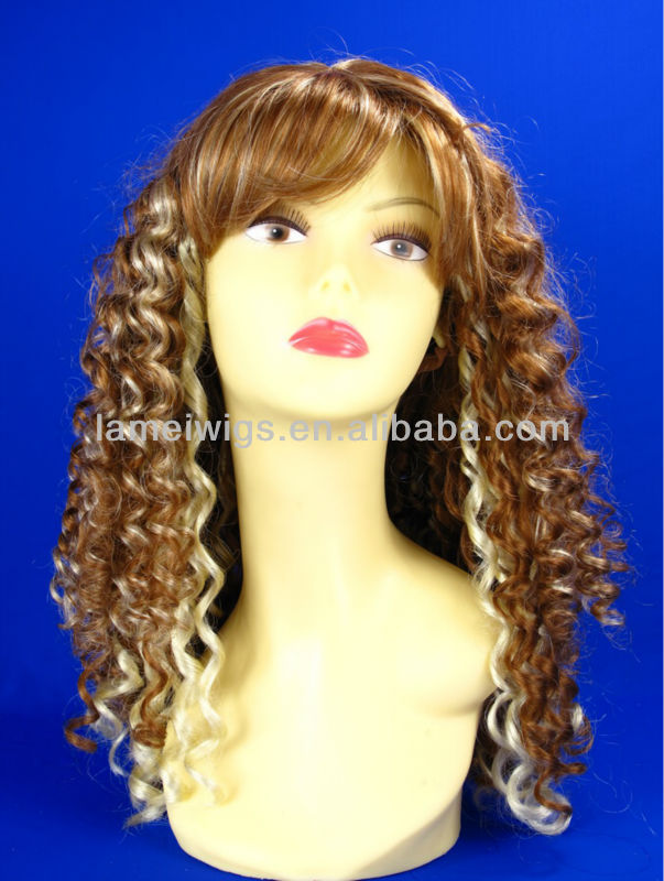 Blonde wig Synthetic wig lady micro braided lace front wigs
