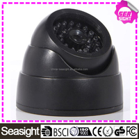 Indoor CCTV Surveillance Dummy Fake Dome Security Camera with Flashing LIGHT - black