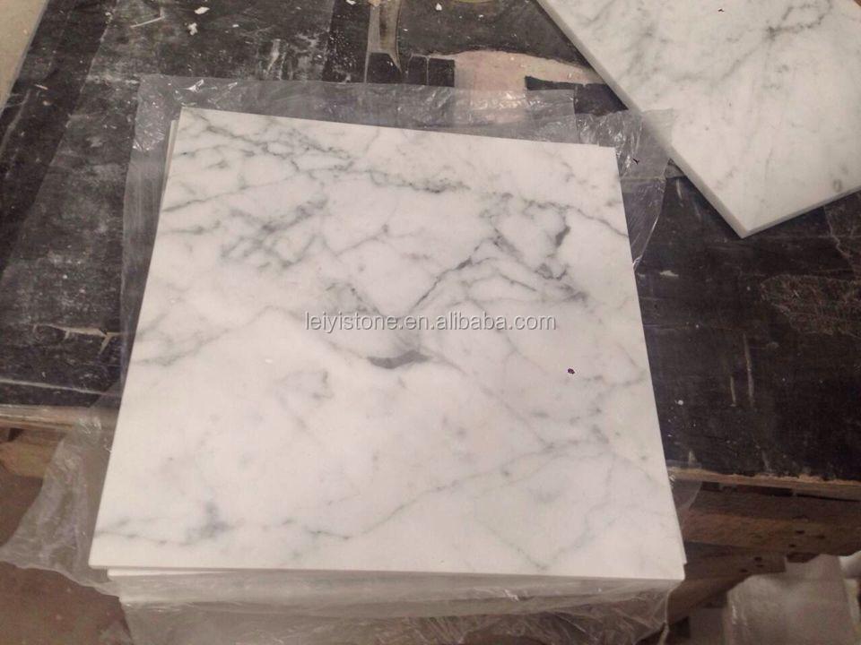 italiaanse carrara wit marmeren tegels voor dunne plaat te