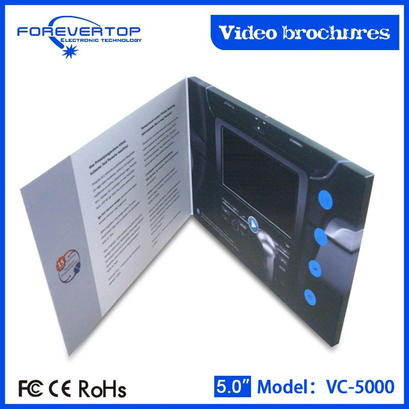New Arrival video brochure video greeting card video brochure lcd for advertisement