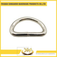 Fashion custom metal zinc alloy welded d ring 3.8 L19*13mm