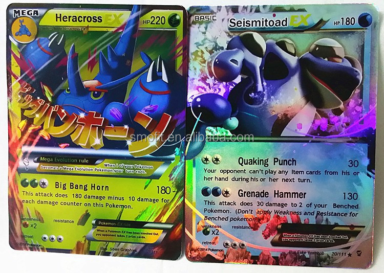 2016 popular pokemon toys EX pokemon cards , new pokemon cards