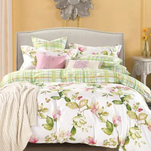 free sample applique work printed bed sheet sets 100% cotton