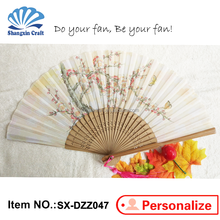 Custom Flower Theme and Souvenir Use carry easy foldable silk hand fans
