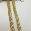 tailoring accessories trimming metallic gold button loops ribbon golden braid trims