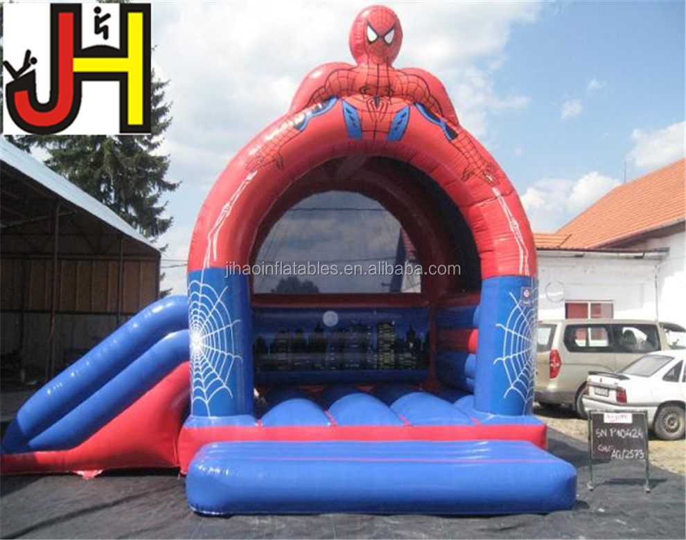Hot Sale Inflatable Spiderman Jumper Bouncer, Inflatable Bounce House With Slide, Kids Inflatable Bouncy Castle
