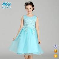 New Arrival Vestidos Kids Party Dress Flower Girls Sequins Lace Bridesmaid Dress LW0086