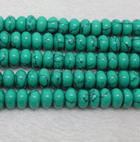 Turquoise blue turquoise abacus beads synthetic spacer loose beads