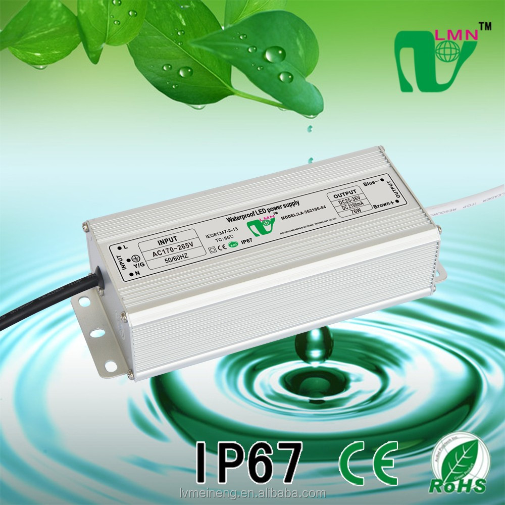 25-36V 2100mA 76W Waterproof LED driver IP67